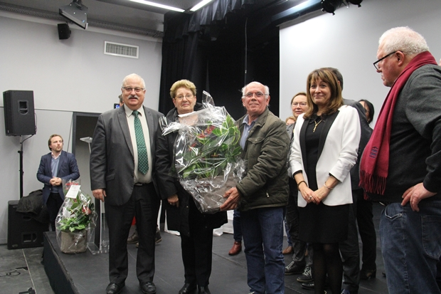 Monsieur et Madame Barouillet, gagnants du prix spécial du jardinier