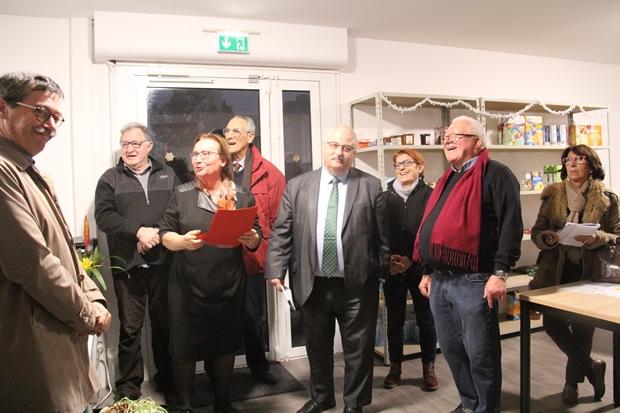 Huguette Lenoir, Adjointe au Maire, déléguée à la Solidarité, Santé, Handicap, Seniors, Politique de la ville, CCAS, lors de l'inauguration du Marché solidaire