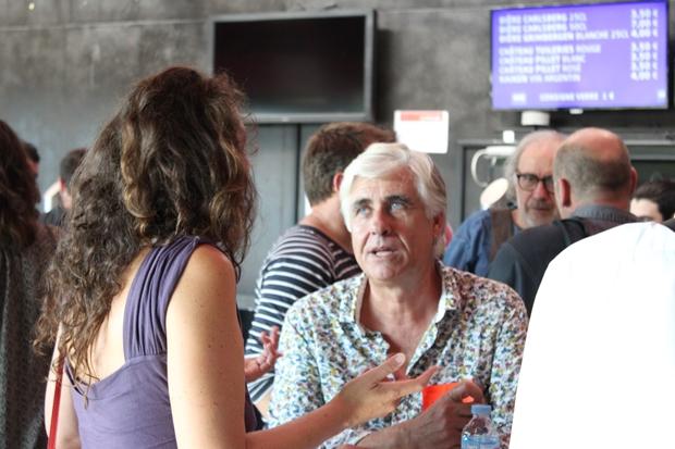 Restaurateur à l'île de Ré et musicien amateur, Gilles Aubin est venu rencontrer des artistes au Rocher de Palmer