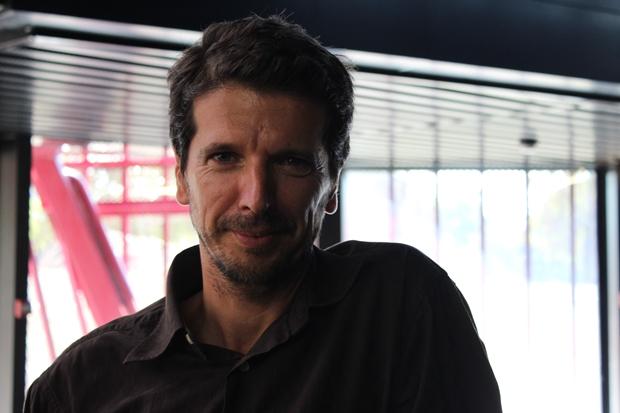 Marc Dalla Longa, Responsable du Pôle Emploi Nouvelle Aquitaine lors du 1er Bistrot des artiste au Rocher de Palmer