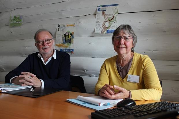 Martine Dosseville, ancienne DRH et Jean-Claude Sauget, référent local de l'association ACT