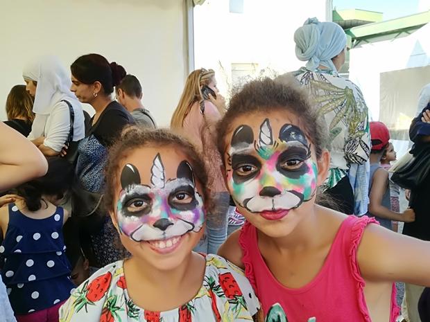 trop kawaii les pandas licornes ! Maquillées par bassin face Painting