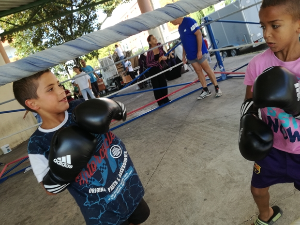 le ring mobile de l'US Cenon Boxe