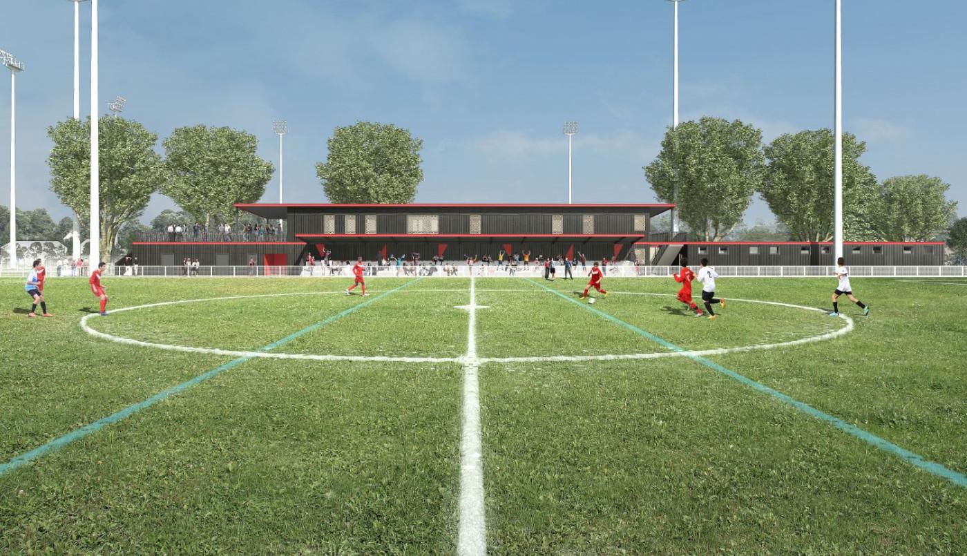 Dans le parc du Loret, un complexe dédié au football et une piscine